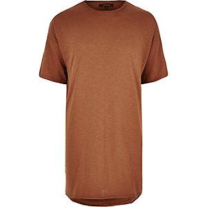 Rust extreme longline T-shirt