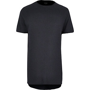 Black washed longline T-shirt