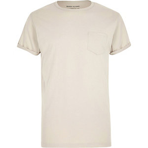 Ecru chest pocket T-shirt