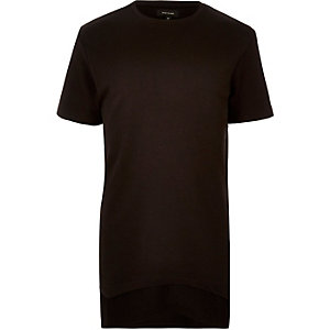 Black longline double layer T-shirt