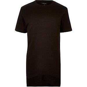 T-shirt noir long double épaisseur