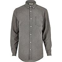 Grey casual denim shirt