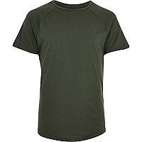 T-shirt cintré kaki à manches en tulle