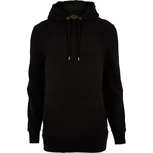 Sweat à capuche en coton noir