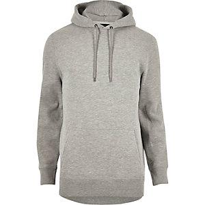 Grijze gemêleerde katoenen hoodie