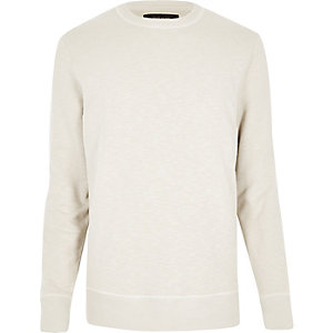 Stone side zip sweatshirt