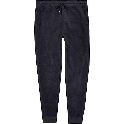 Pantalon de jogging en polaire bleu marine