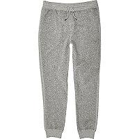 Grey fleece joggers