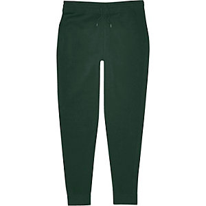 Green cotton joggers