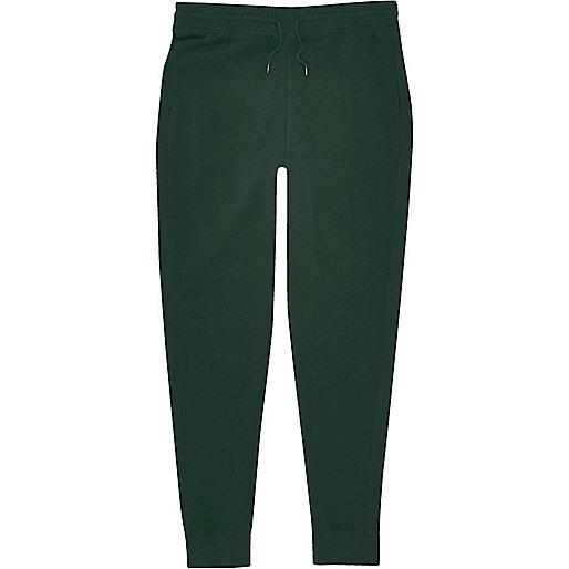 Pantalon de jogging en coton vert