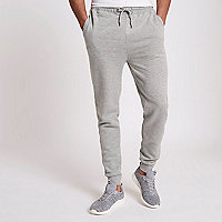 Grey marl cotton joggers