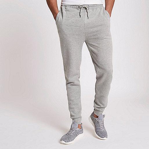 Grey marl cotton joggers