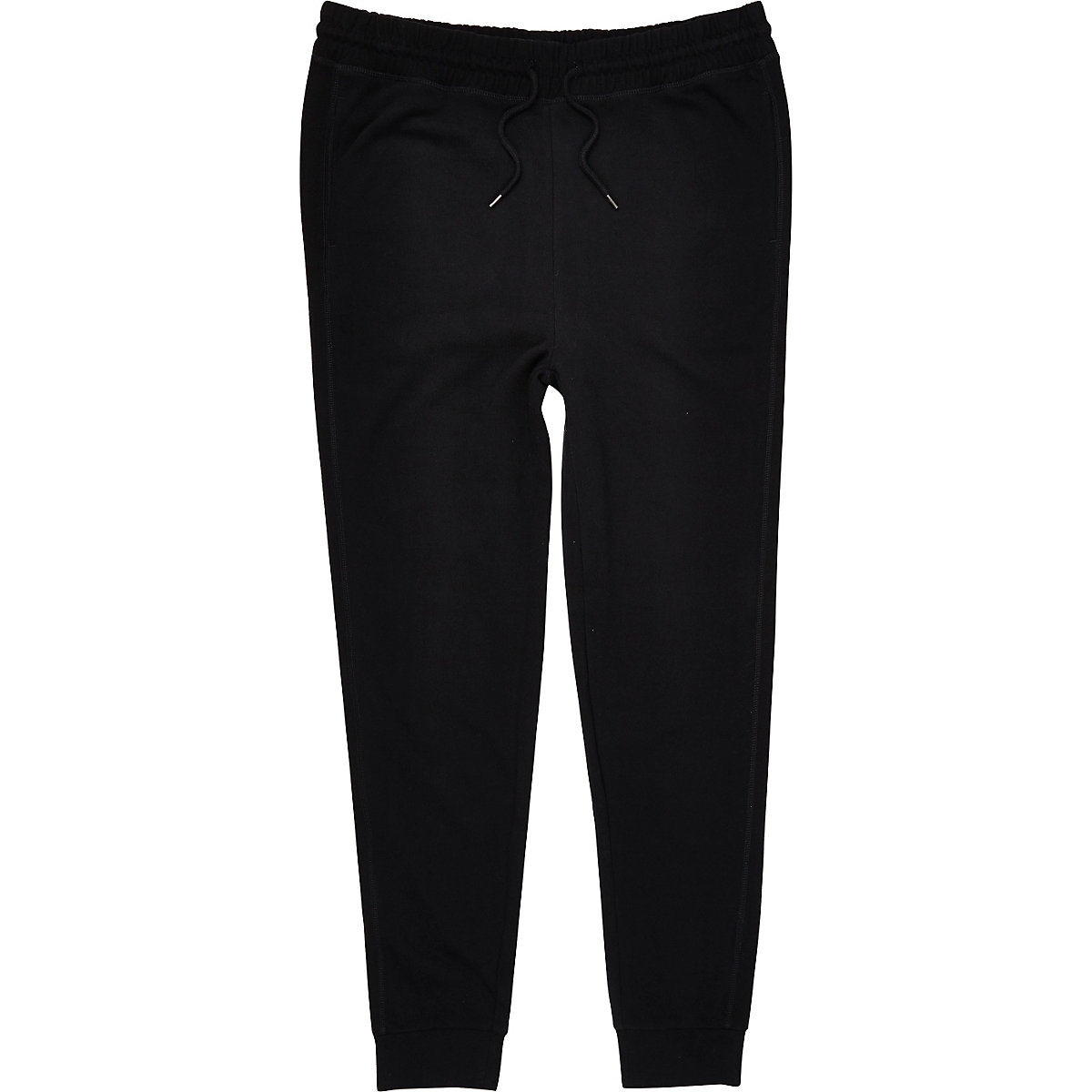 Black cotton joggers