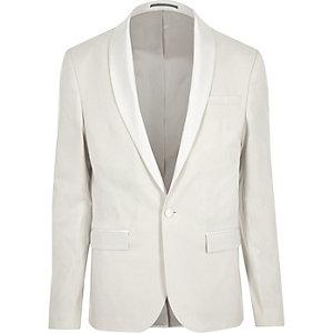 Veste de costume crème très ajustée