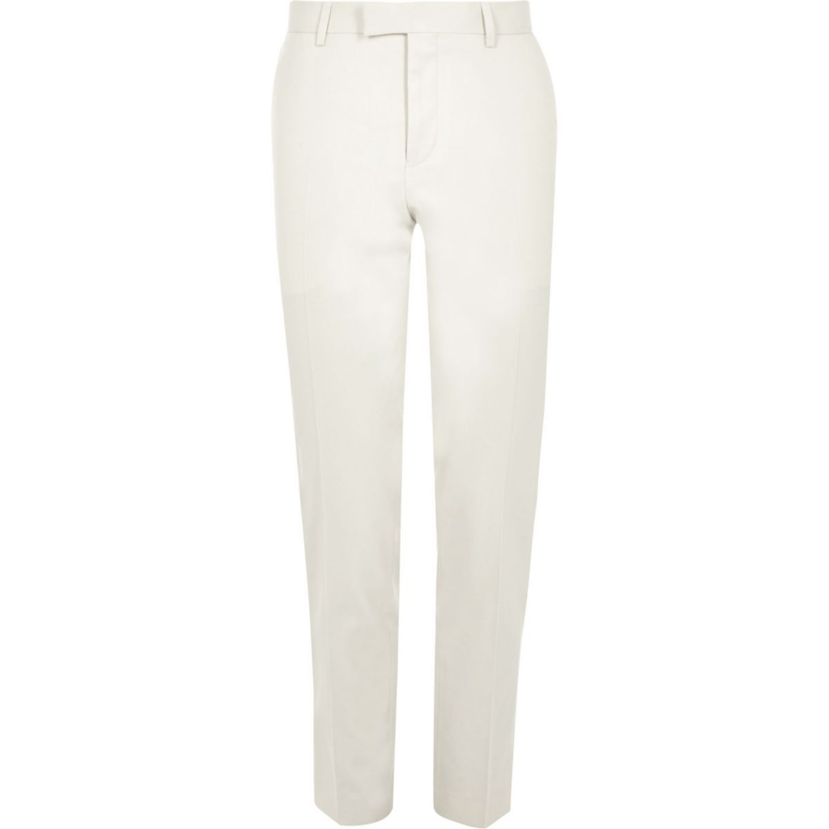 Cream skinny fit suit pants
