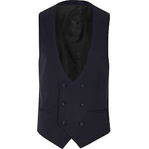 Royal blue double breasted vest