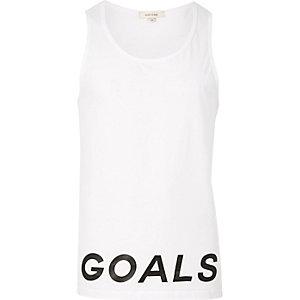 White goals print vest