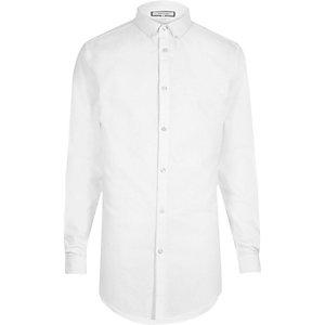White longline Oxford shirt