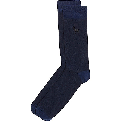 Blue stag icon socks
