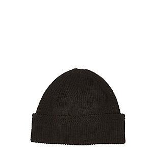 Black docker beanie hat