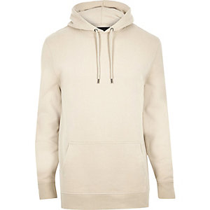 Stone cotton hoodie