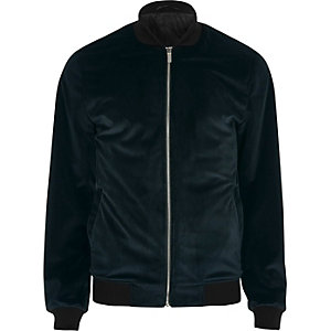 Green velvet bomber jacket