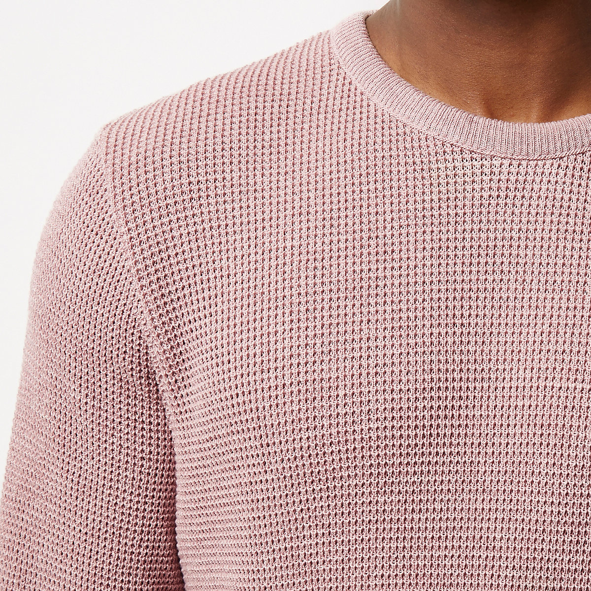Pink textured sweater