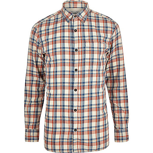 Red Jack & Jones Vintage Maywood check shirt