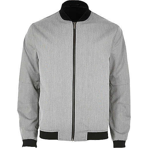 Grey formal bomber jacket