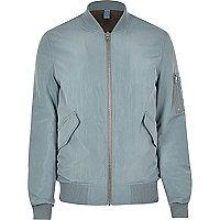 Light blue MA1 bomber jacket