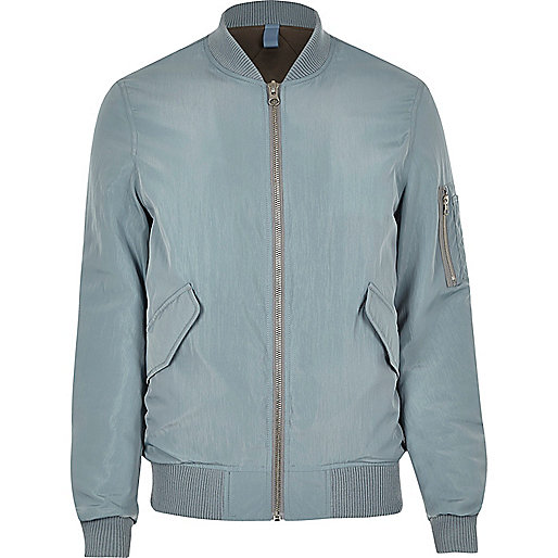 Light blue MA1 bomber jacket