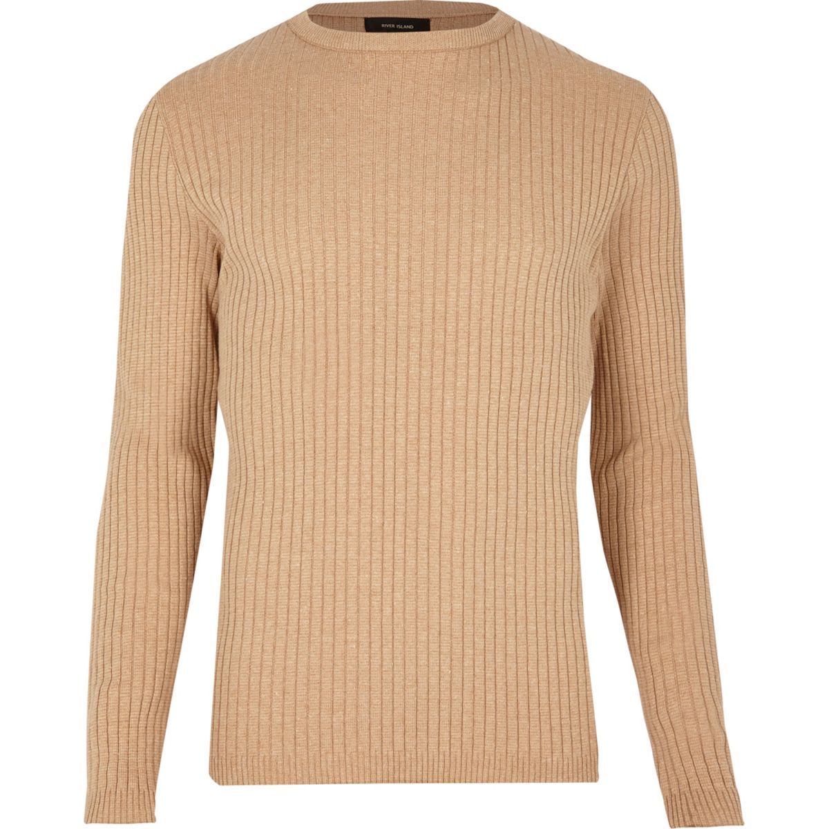 Light brown ribbed jumper