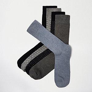 Blauwe sokken met stippenprint
