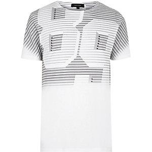 White '89' faded print T-shirt