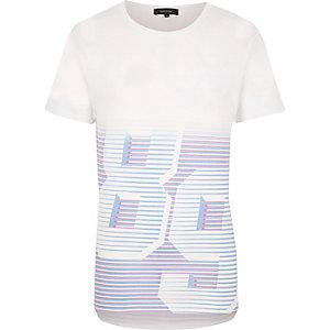 White number print T-shirt