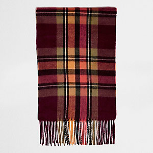 Oranje geruite sjaal