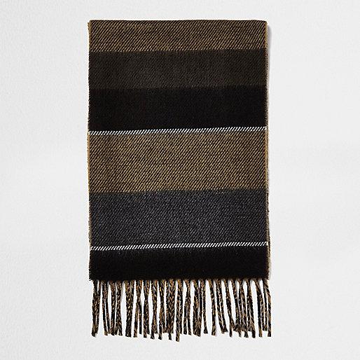 Écharpe marron clair colour block