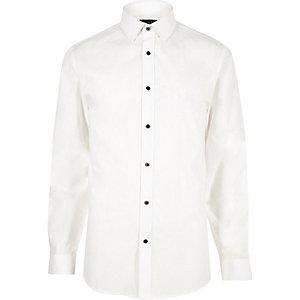 White smart slim fit poplin shirt