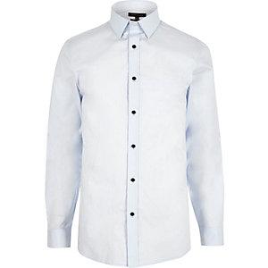 Light blue formal slim fit poplin shirt