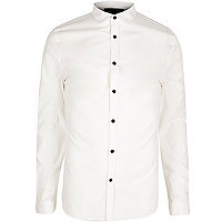 White formal skinny fit poplin shirt
