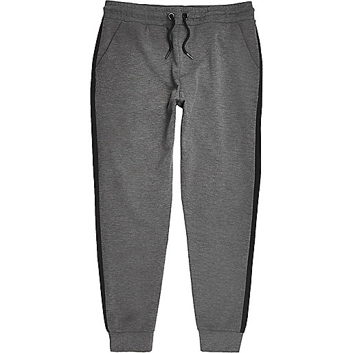 Pantalon de jogging anthracite coupé-cousu