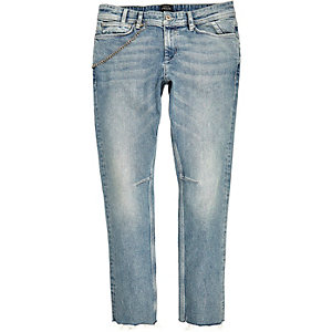 Light wash chain Sid skinny jeans