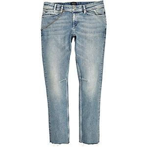 Light wash chain Sid skinny jeans