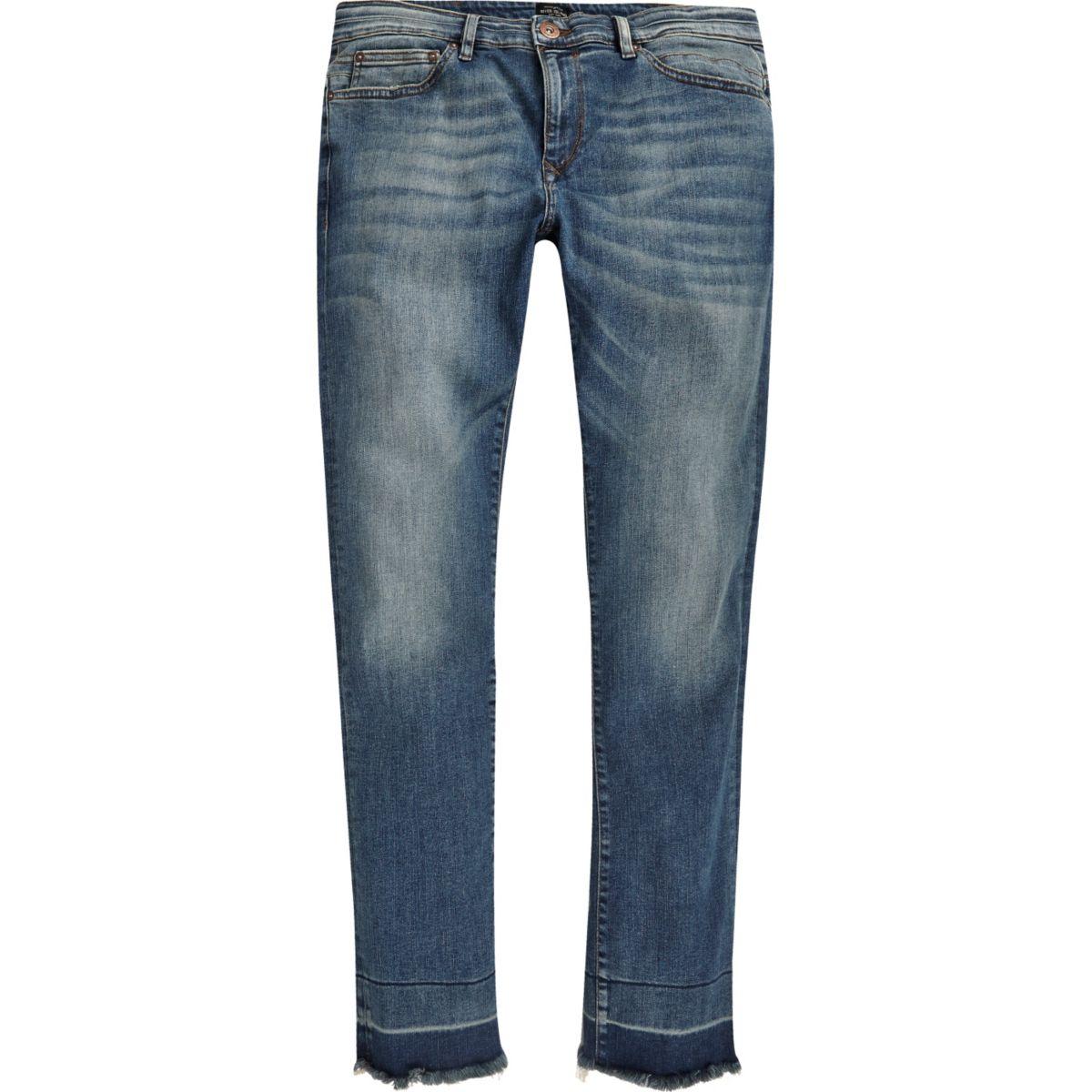 Blue wash Ronnie skinny cigarette jeans