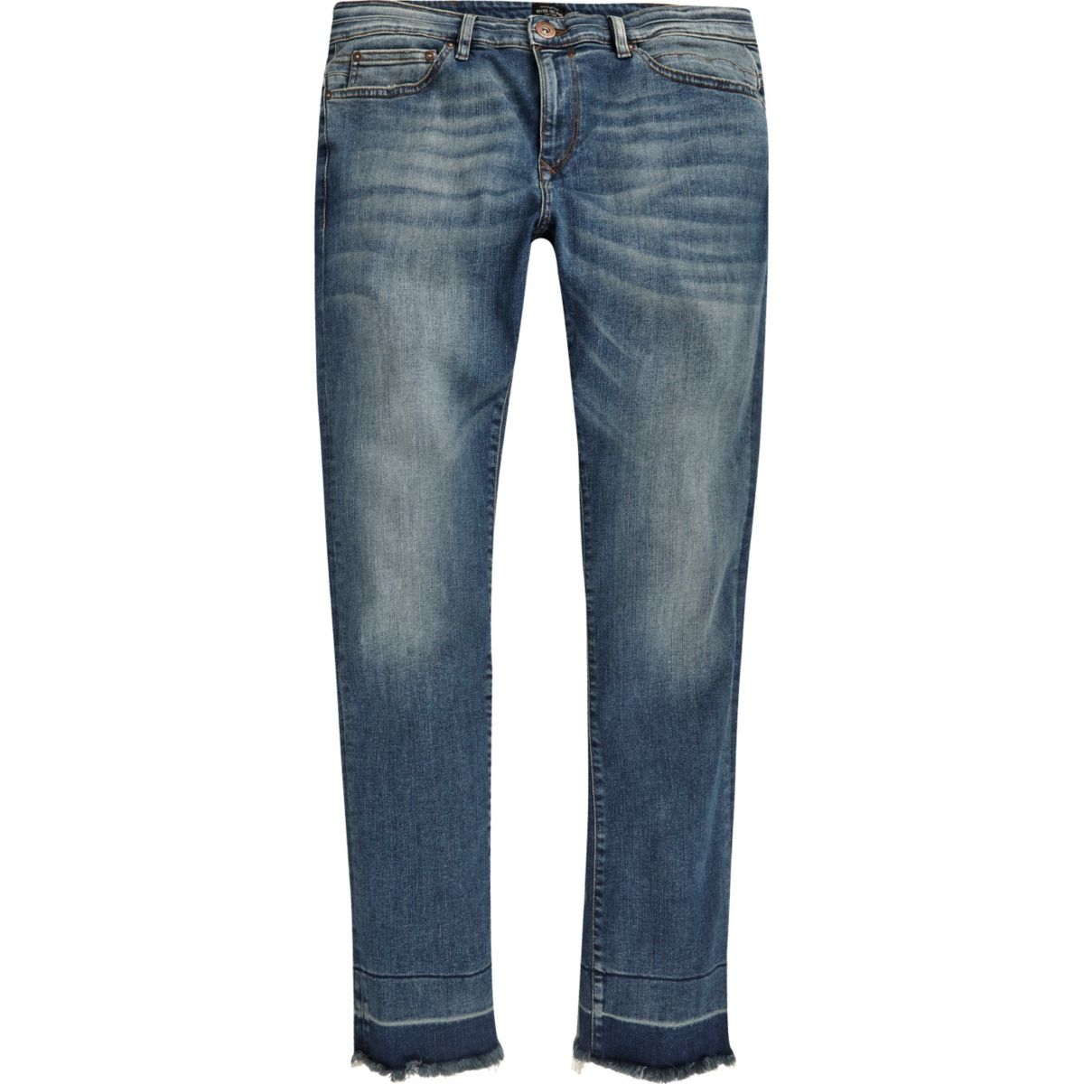 Ronny – Skinny Jeans in blauer Waschung