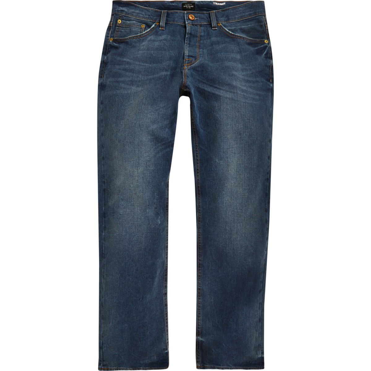 Dean – Straight Jeans in Mittelblau