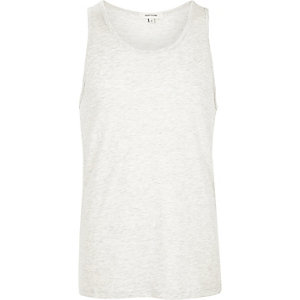 Grey cotton tank