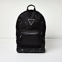 Black paint splatter backpack