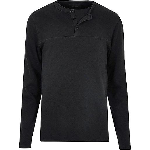 Black long sleeve grandad jumper