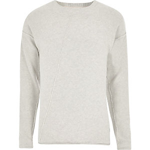 Only & Sons – Steingrauer Strickpullover